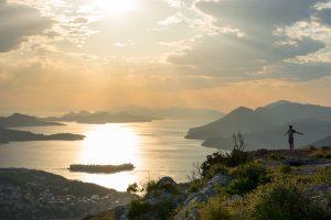 Amazing sunset in Dubrovnik Croatia