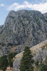 Breathtaking mountains in Kotor Montenegro