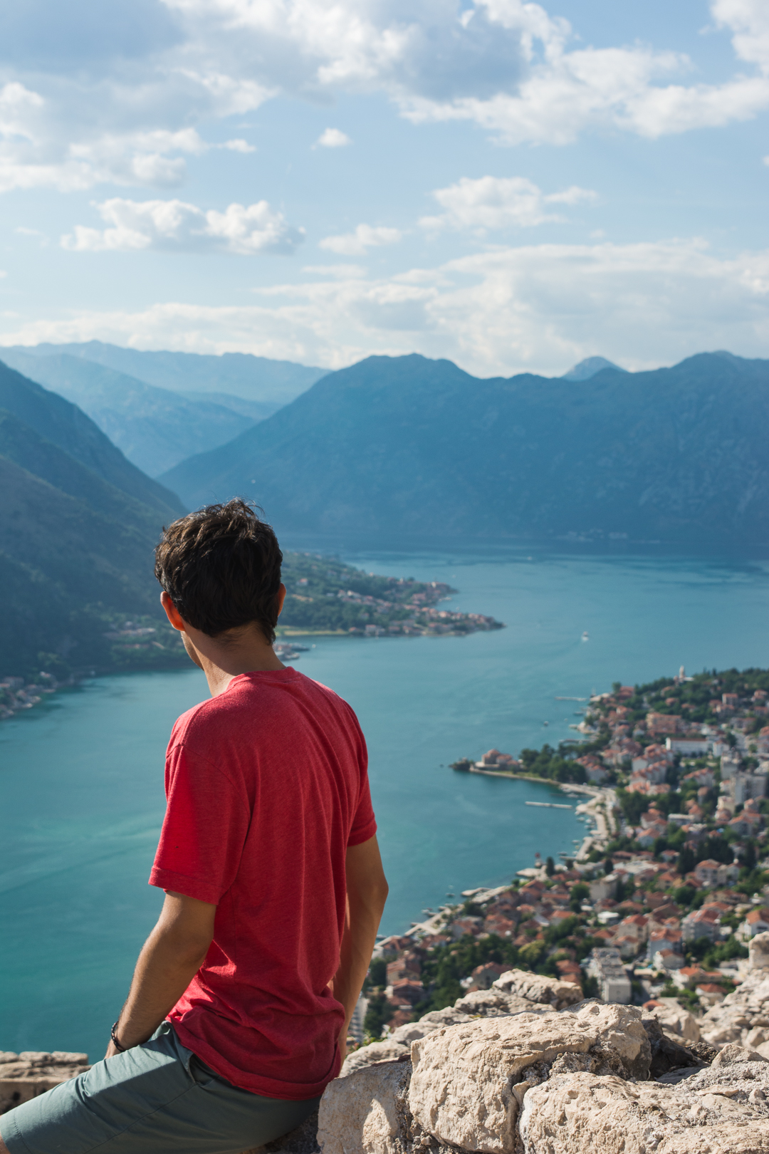 View from the top of the Castle of San Giovanni in Kotor Montenegro