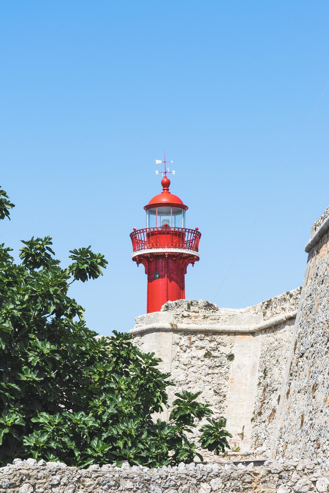 Red Lighthouse in Figueira da Foz Portugal
