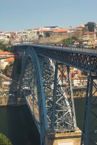 Dom Luis I Bridge in Porto Portugal