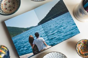 Printed Digital Album showing a picture from our time in Montenegro