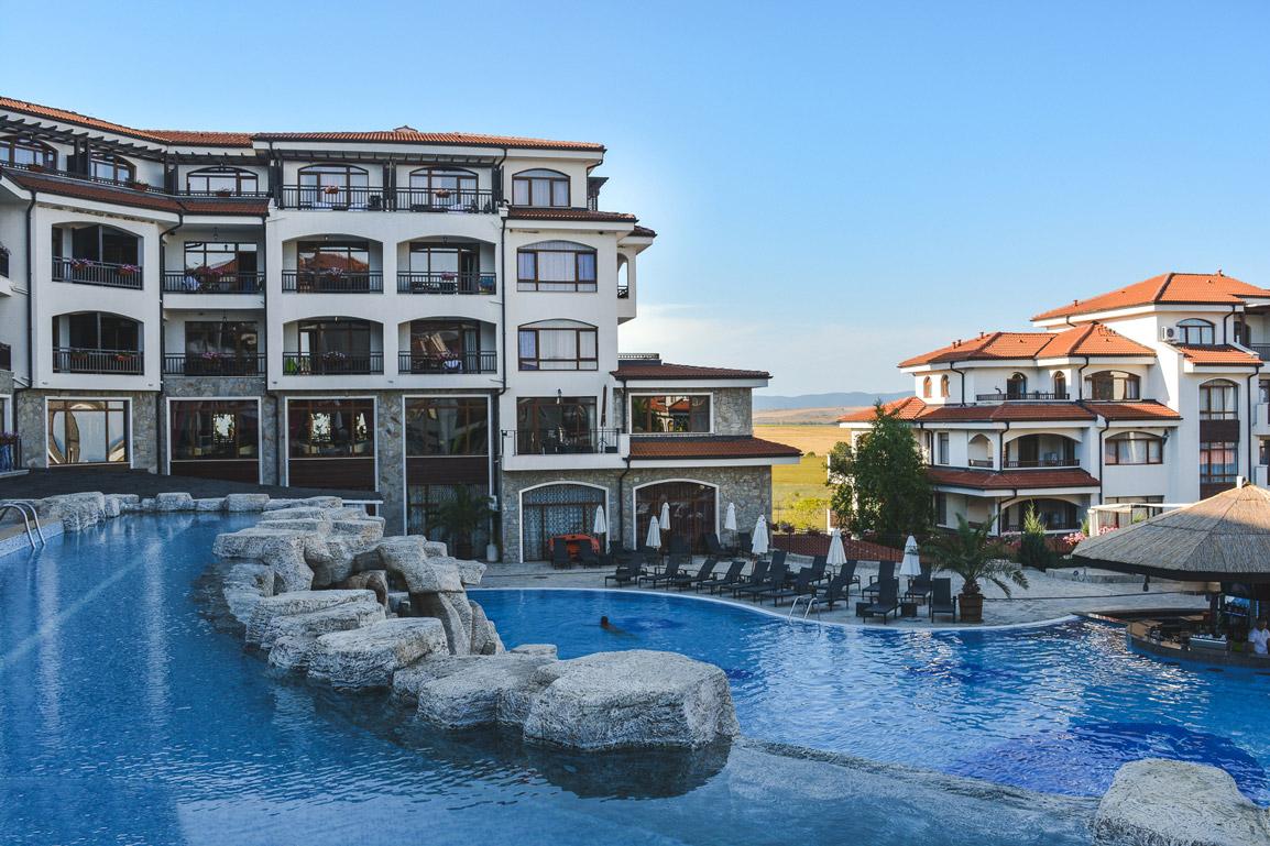 Vista do nosso quarto em Aheloy, Bulgaria