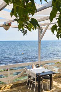 Restaurant by the Black Sea in Nessebar Bulgaria