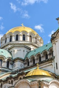 Rooftops of the AlexanderNevski Cathedral in Sofia Bulgaria