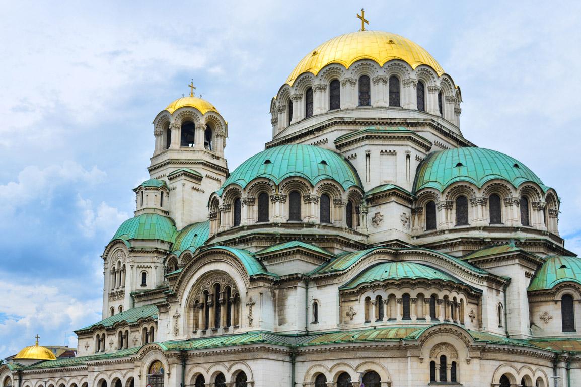 A bela Catedral de Alexander Nevski em Sofia, Bulgaria