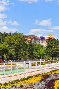 Jardim perto do NDK em Sofia, Bulgaria