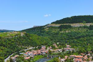 Hills around the city of Veliko Tarnovo in Bulgaria