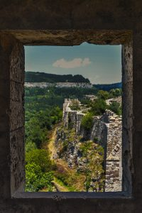 Window in the Tsaravets Fortress in Veliko Tarnovo in Bulgaria