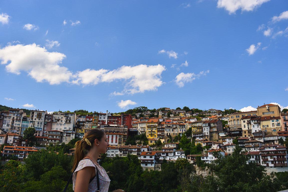Casas no monte em Veliko Tarnovo, Bulgaria