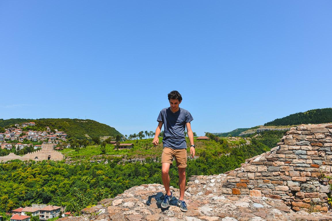 Rui no Forte Tsavarets em Veliko Tarnovo, Bulgaria