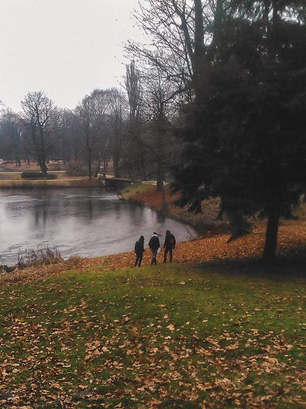 Dia de Outono no Parque Lazienki em Varsóvia