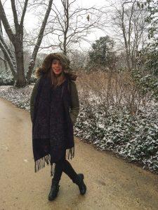 Dia de Inverno no Parque Lazienki em Varsóvia