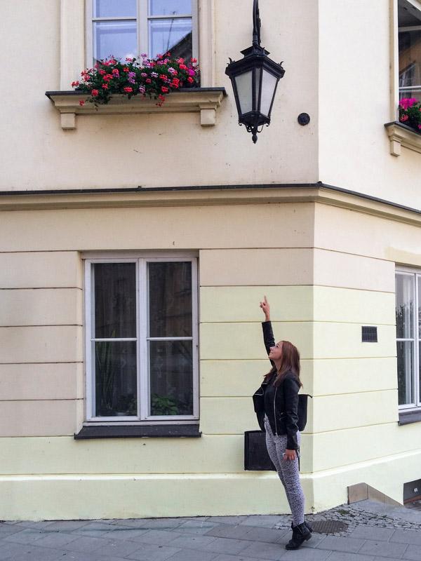 Flores numa casa em Varsóvia