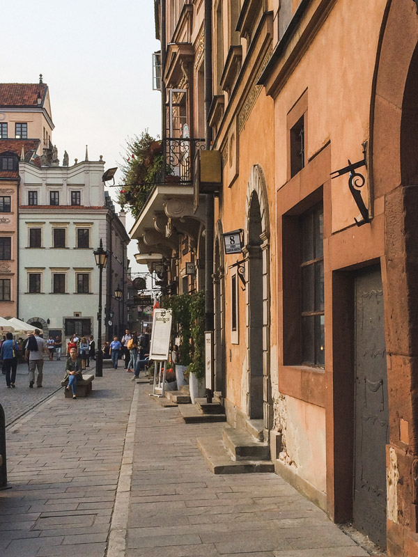 Casas na Cidade Velha de Varsóvia na Polónia