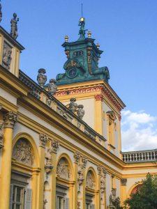 Detalhes do Palácio Wilanow em Varsóvia