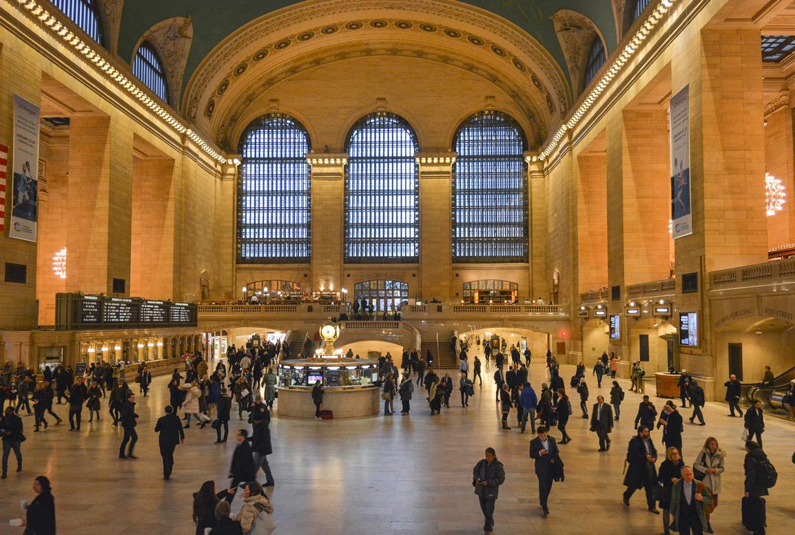 Dentro da famosa Grand Central Station em Nova Iorque