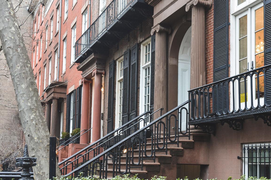 Edifícios típicos em Manhattan