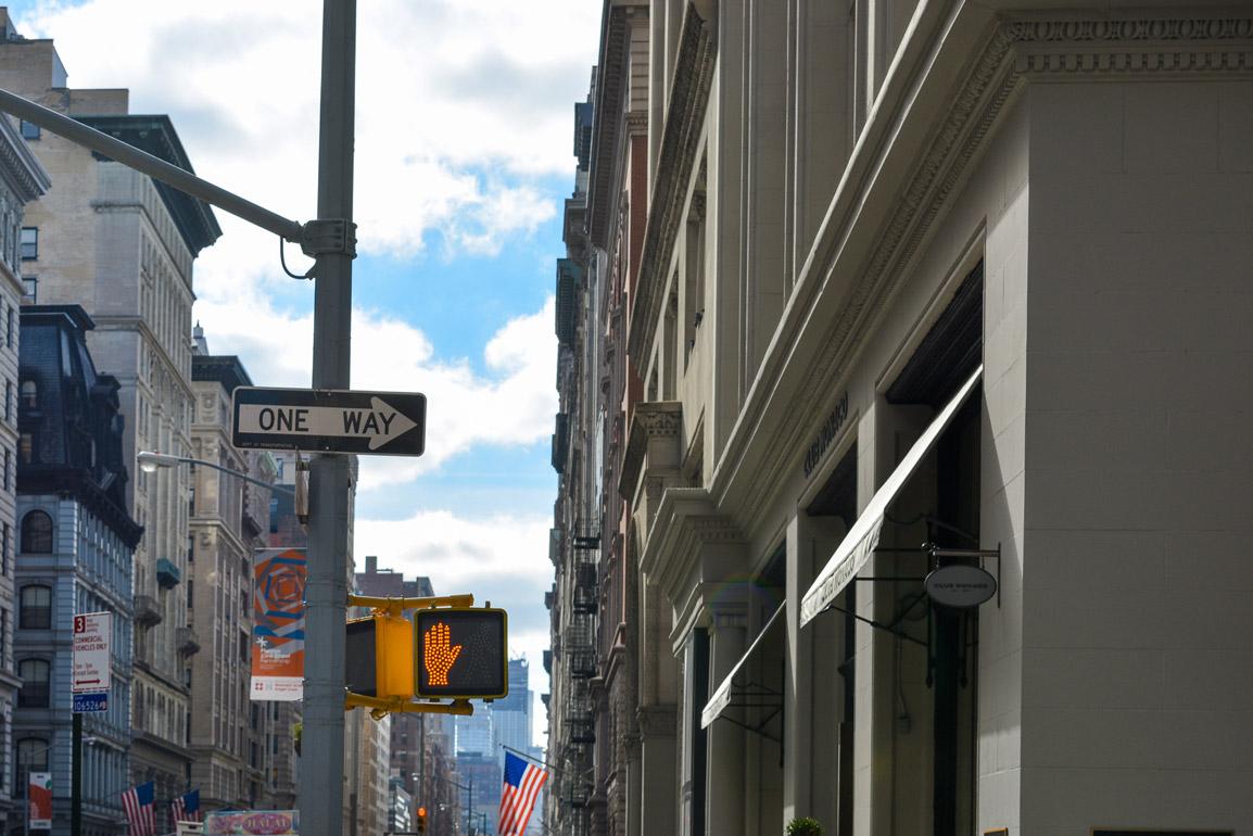 Avenida tipica de Nova Iorque