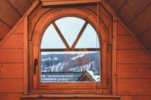 Vista magnífica para as montanhas do nosso quarto em Zakopane