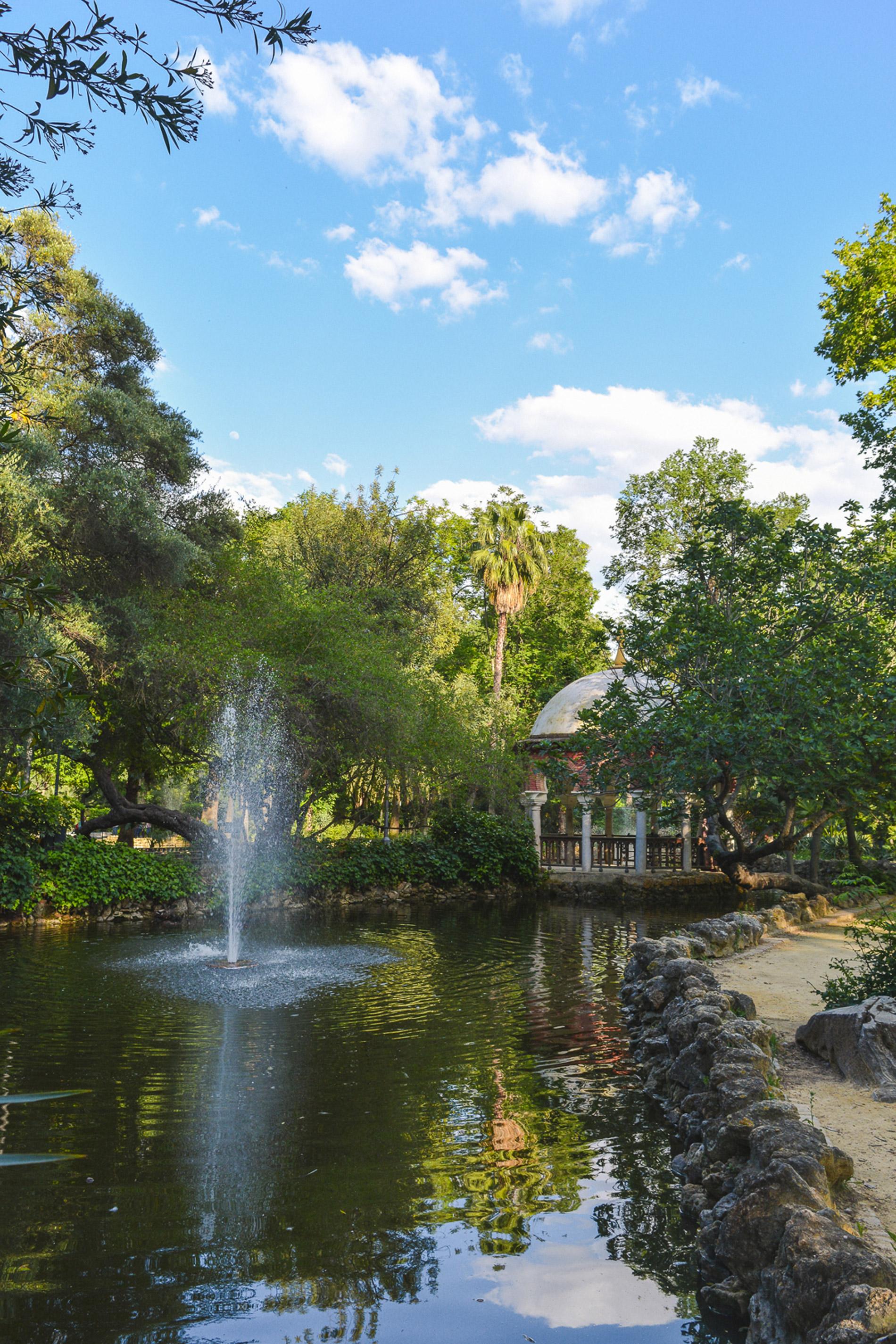 O Parque Maria Luísa é uma das mais verdes atrações em Sevilha