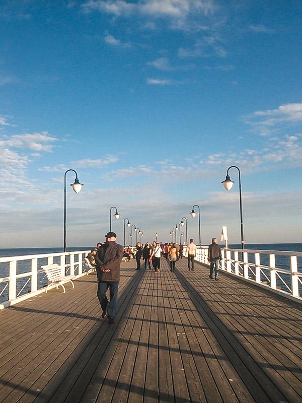 Cais em Gdynia na Polónia