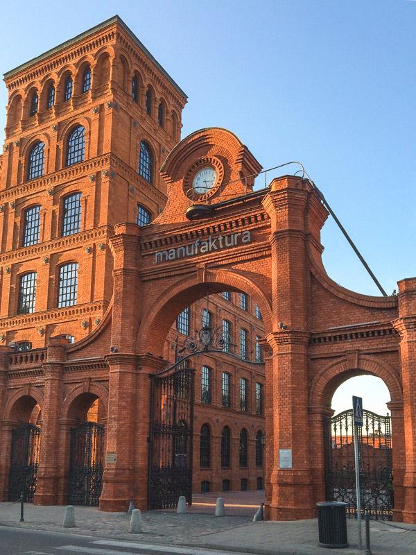 Complexo Manufaktura em Lodz na Polónia