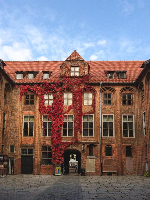 Antiga Câmara Municipal de Torun na Polónia