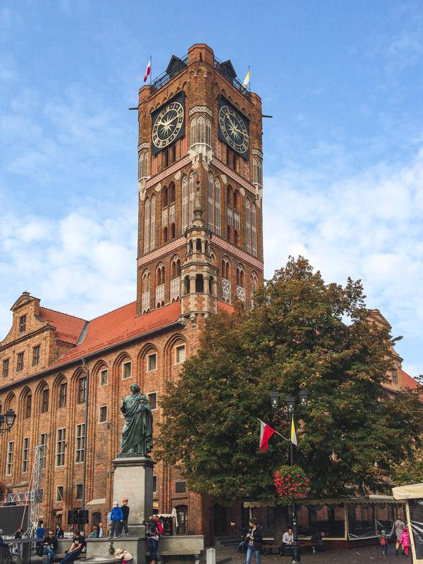 Torre da Antiga Câmara Municipal de Torun na Polónia