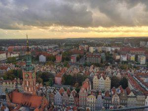 Vista sobre Gdansk no norte da Polónia