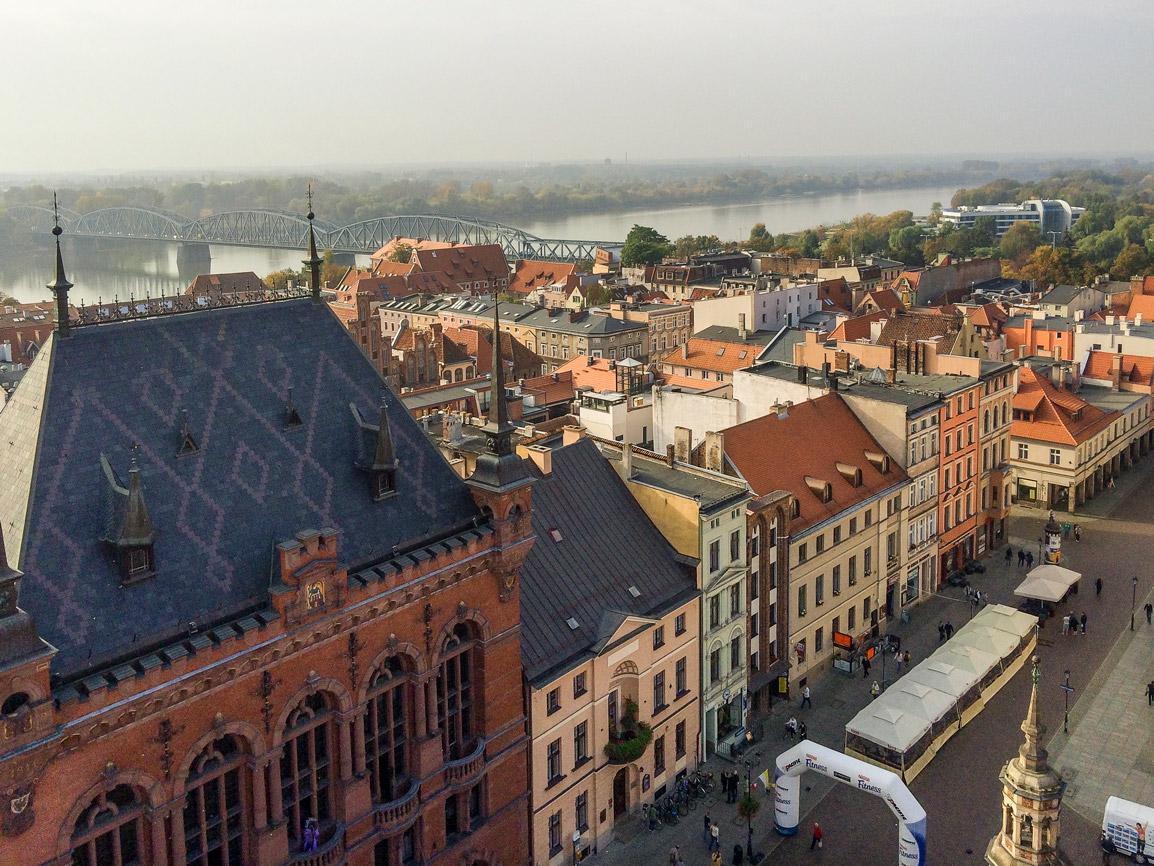 Vista sobre Torun na Polónia