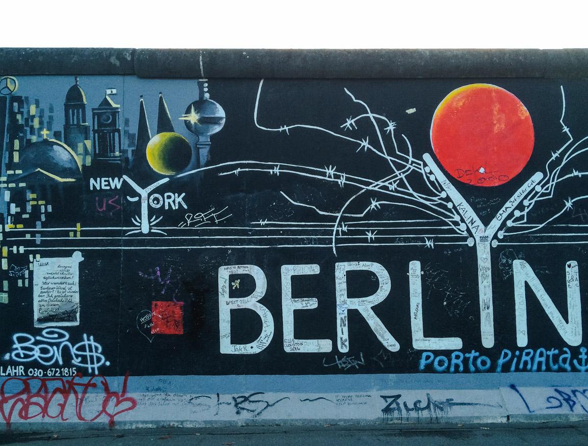 Arte urbana no histórico muro de Berlim