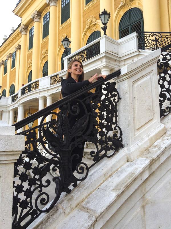 Maria a tentar ser princesa num dos muitos palácios de Viena