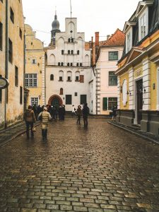 Casas históricas na zona central de Riga