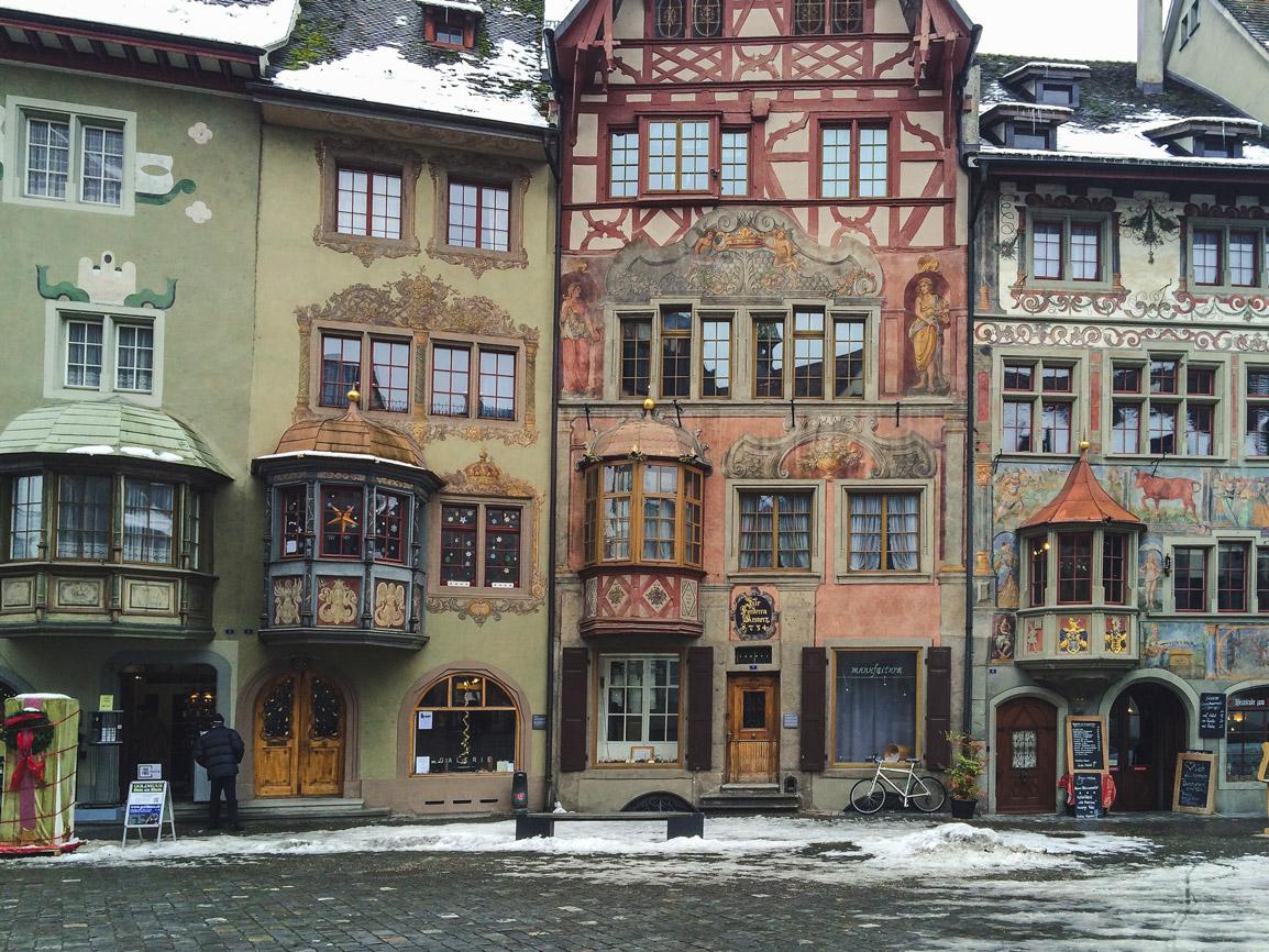 Encantadora cidade de Stein am Rhein na Suíça