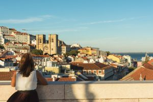 Vista para Lisboa do Arco da Rua Augusta