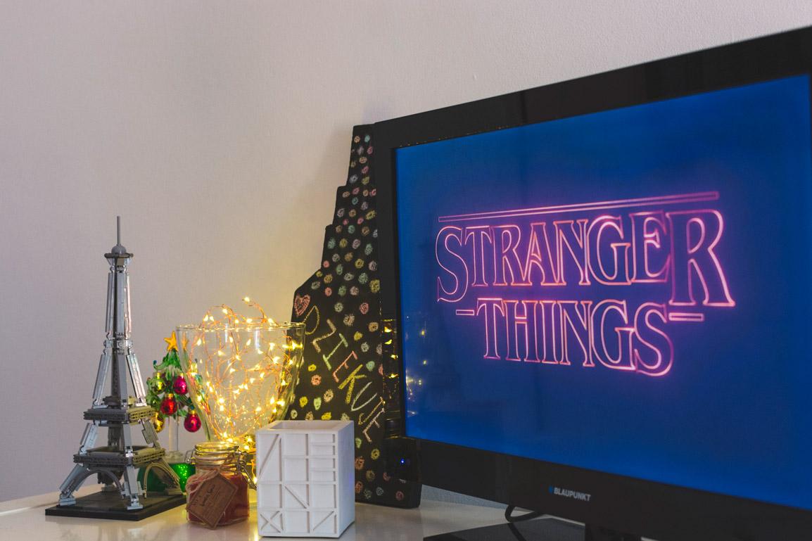 Televisão com Stranger Things