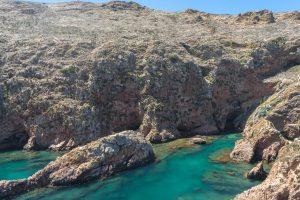 Paisagem única da ilha das Berlengas em Portugal