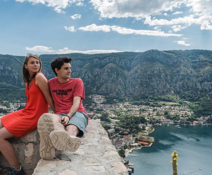 Nós a apreciar a magnifica vista sobre Kotor