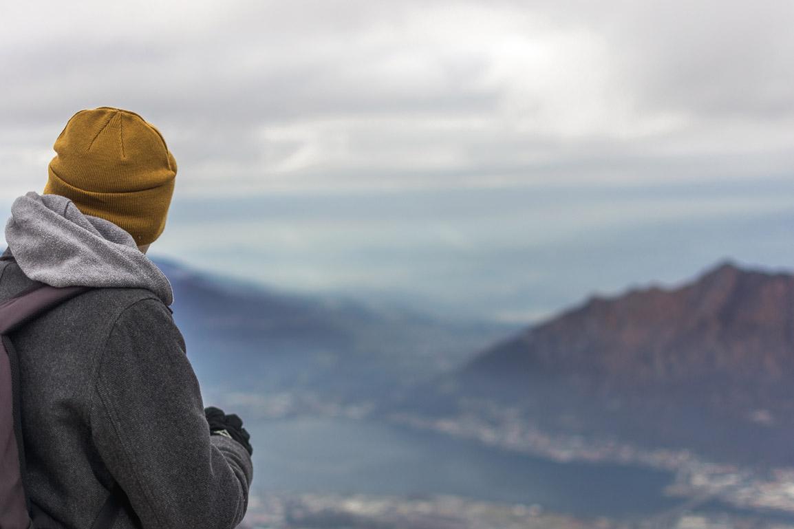 Rui e a magnífica vista sobre as montanhas e o Lago Como