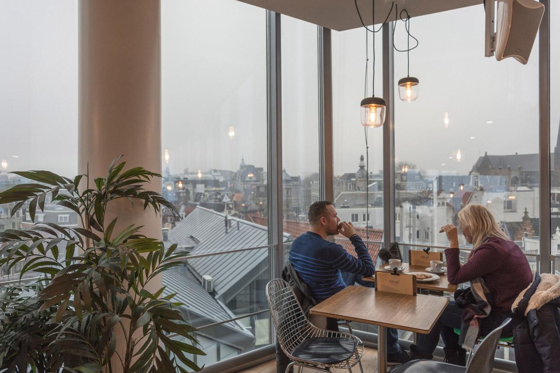 O Blue Amsterdam oferece vistas panorâmicas sobre a cidade de Amesterdão