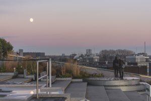 Pôr do sol do topo do Museu NEMO, um local a visitar em Amesterdão
