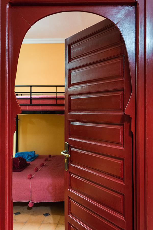 Porta de entrada para um dos quartos