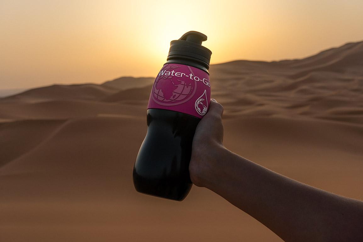 Garrafa rosa Water to Go