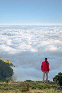 Acima das nuvens, num dos nossos trilhos favoritos da Madeira