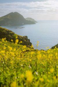 Uma vista fantástica da Ponta de São Lourenço na Ilha da Madeira, Portugal