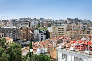 Vista de Lisboa do Jardim do Torel