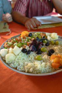 Tipica salada marroquina na nossa paragem de almoço