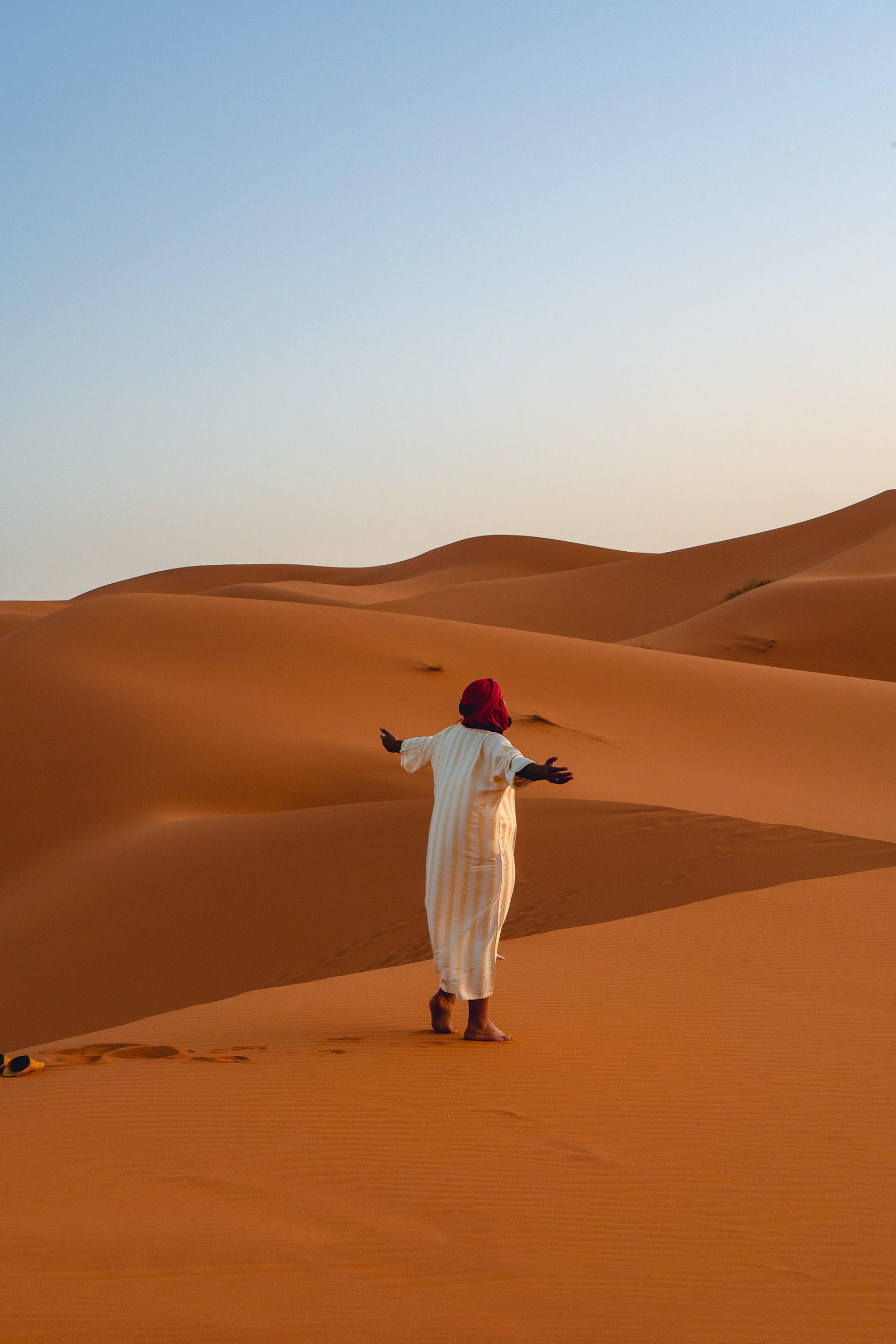 O deserto de Marrocos é um lugar mágico e um destino de sonho