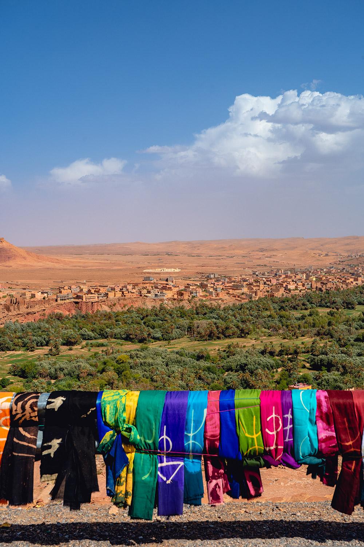 Miradouro colorido no sul de Marrocos